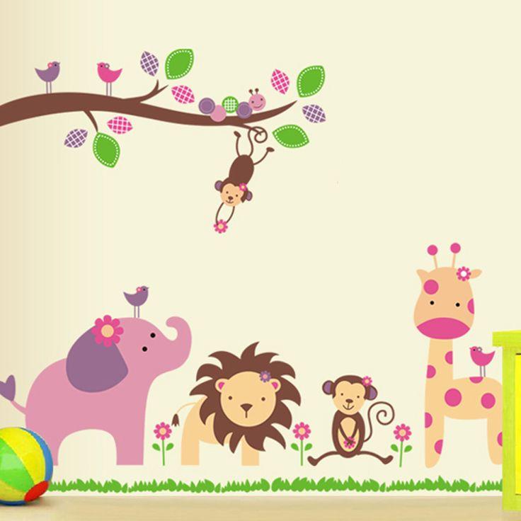 spedizione gratuita fai da te circleof onta leone a muro di carta adesivo di carta bambino adesivi murali camera da letto