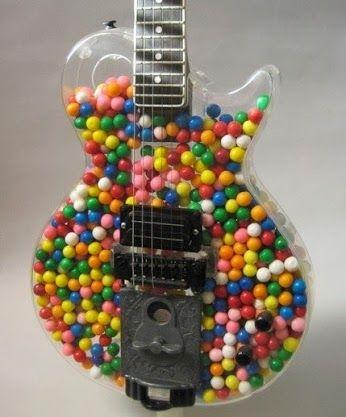guitar shaped gumball machine