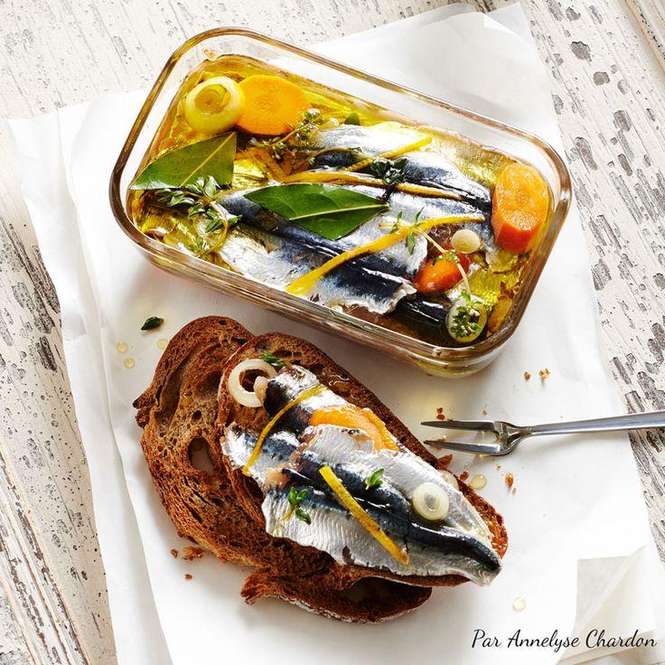 Recette d'Annelyse Chardon autour de l'huile d'olive et des sardines