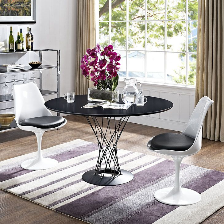 cyclone stainless steel dining table in black itu0027s those disparate elements that make the most