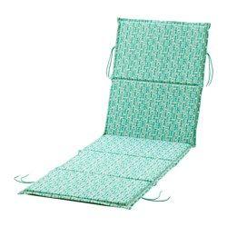 IKEA - NÄSTÖN, Matelas fin bain de soleil, , Les liens maintiennent le coussin de bain de soleil bien en place.Le matelas pour bain de soleil peut être retourné et utilisé des deux côtés, ce qui prolonge sa durée de vie.