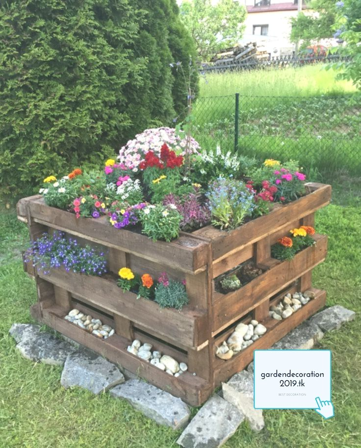 Pallet Raised Bed With Flower Planting Simple Garden Blumenpflanzung Einfac A Gardendecoration2019 Tk Garten Hochbeet Bepflanzung Paletten Garten