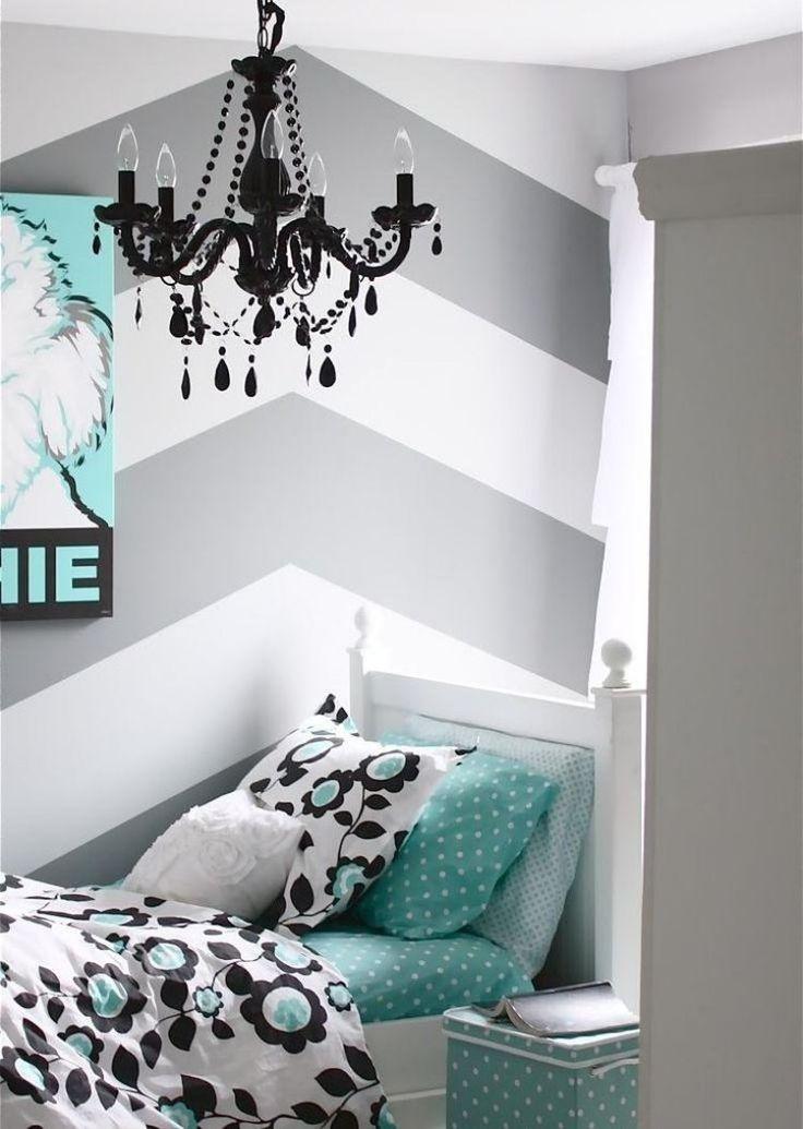 Die 25+ Besten Ideen Zu Wandgestaltung Streifen Auf Pinterest ... Dunkelgraue Wandfarbe Mit Muster
