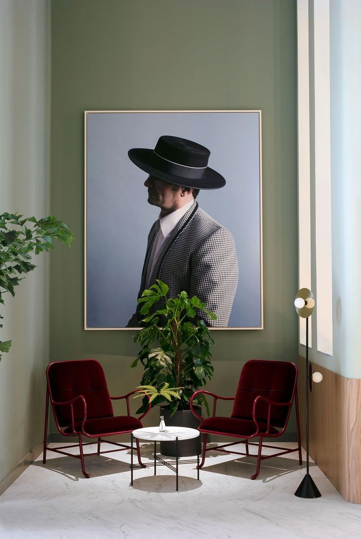 reception | waiting area | reading nook | Hotel Torre de Madrid. Photo © KlunderBie.