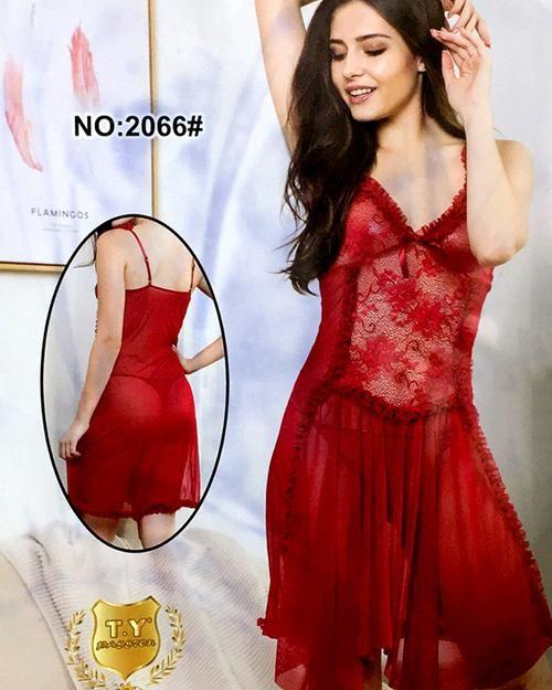 Bridal Sexy Hot Fur Cotton Net Short Nighty For Women - 2066 ... 81e837b74
