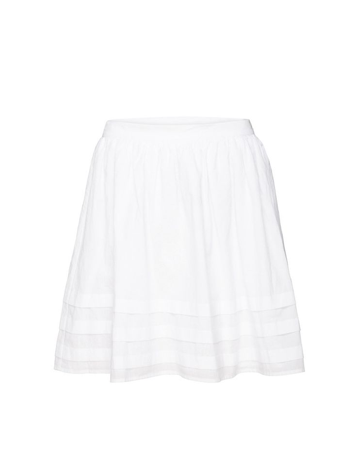 The Throw Light Skirt is the perfect light cotton skirt for Summer. This  trans-seasonal wardrobe essential is the perfect skirt to match back with any top in your wardrobe. Wear you skirt with a polished silk tank and blazer for the office, or add a leather jacket and ankle boots for an off-duty casual look.     Features: Made from Cotton Voile Pleated hem detail