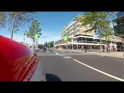 Ride into Corby Town Centre