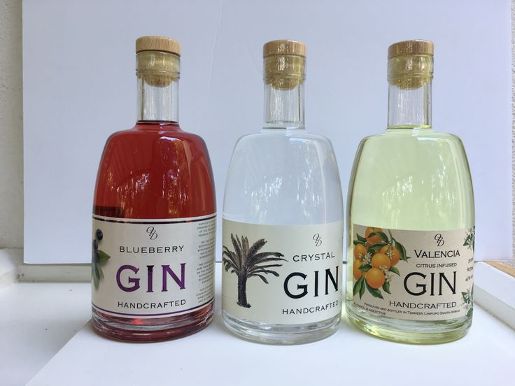 Old Packhouse Distillery Blueberry Gin Crystal Gin Valencia Gin