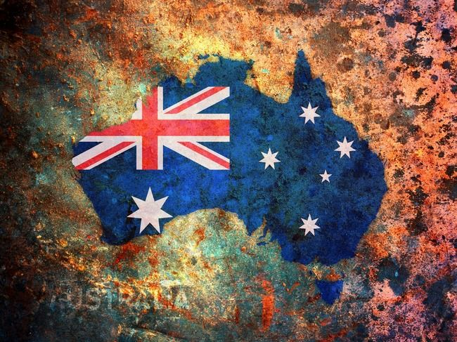 Australia Flag Map   Michael Tompsett