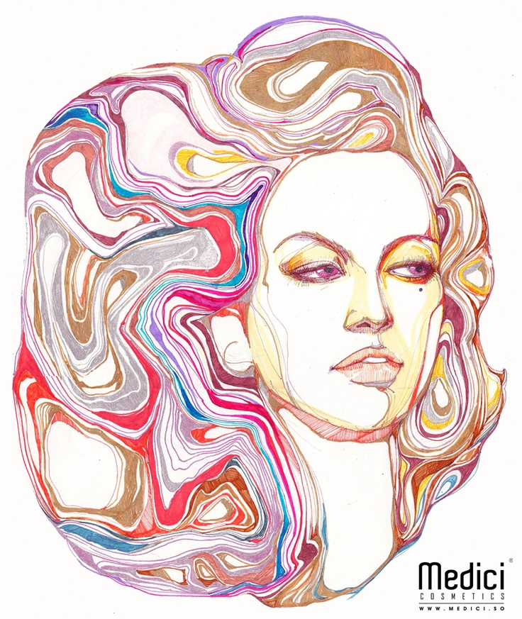 "www.medici.so [Medici x Peach Bang] ""Right to Portrait of Mata Hari at Thermopylae_테르모필레 마타 하리의 초상권_ink on paper"""