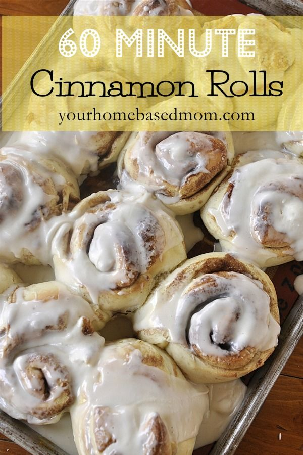 60 Minute Cinnamon Rolls - I love cinnamon anything, will have to try this!