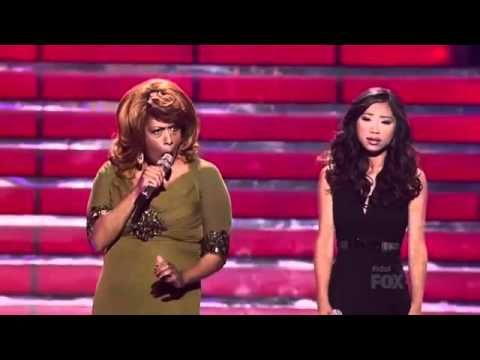 Jessica Sanchez & Jennifer Holliday - Final Performance of American Idol Season 11.  This is ridiculously awesome-- especially the minute starting at 1:13.