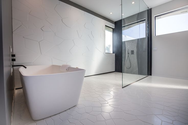 Parametric Skin Mario Romano Wave House California - Bathroom