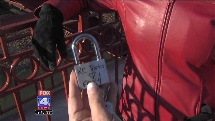 The Red Bridge in Kansas City is where lovers go to place a lock, celebrating their love and throwing away the key!  I want to do this!!