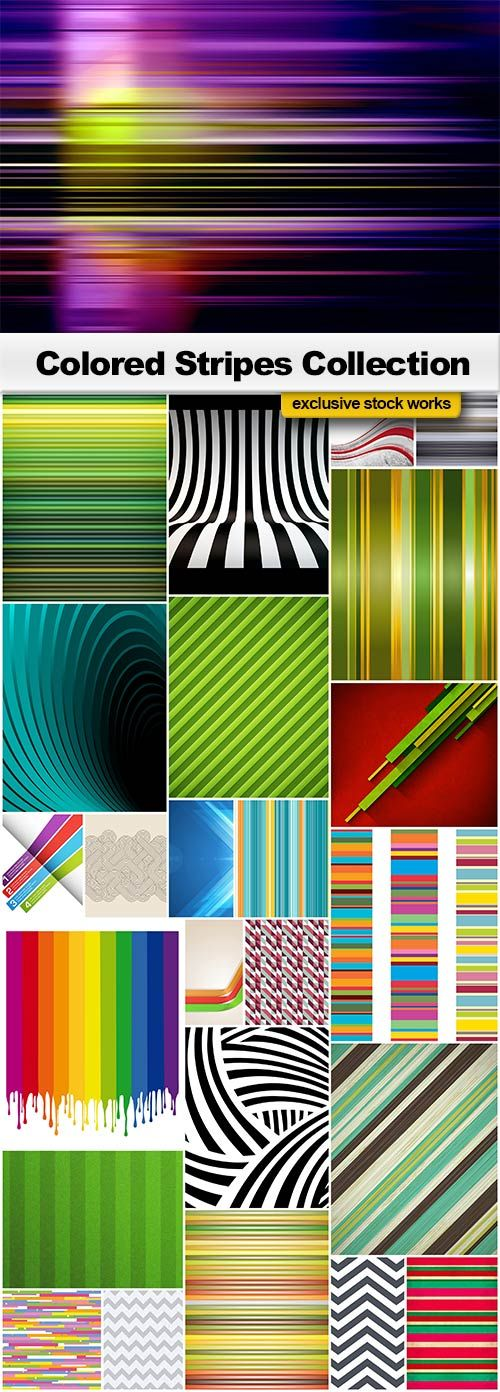 Colored Stripes - 20 EPS + 5 JPEGs