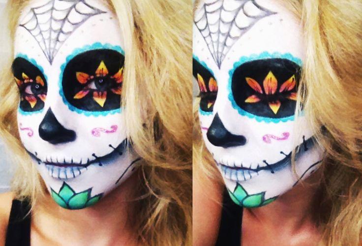 Sugar Skull Halloween Tutorial ♡ Collab w/ AlliNicoleee and MakeupWithJah!