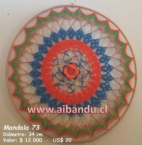 Mandala 73 ... tejido a crochet ... diametro 34 cm