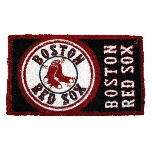 "30"" Boston Red Sox MLB Baseball Authentic Logo Indoor Outdoor Welcome Mat by Evergreen. $54.99. Boston Red Sox Welcome MatItem #0007L707OFFICIALLY LICENSED MERCHANDISEWelcome mat features the authentic logo for the Boston Red Soxs professional baseball team in brightly colored natural fibersFor indoor and outdoor use Dimensions: 18""L x 30""W x 1""H Material(s): Natural fiber"