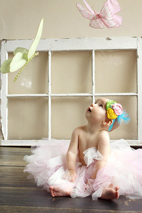 1st birthday photo shoot idea....she needs a tutu!