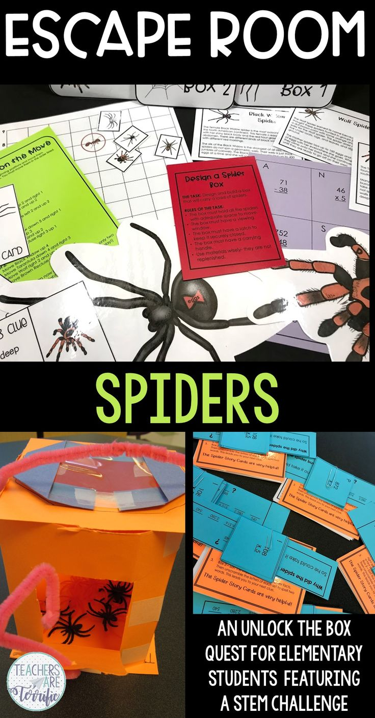 Escape Room with Spiders Escape room, Halloween stem