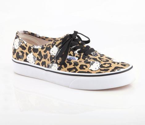 HK |❣| HELLO KITTY's 40th Anniversary Special Release Vans Leopard Sneaker - Women's