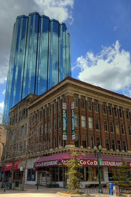 Edmonton, Alberta, Canada.   Downtown Edmonton is a mix of modern and Georgian architectural styles.