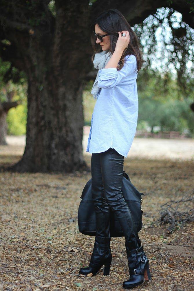 Boyfriend Shirt-Need leather pants