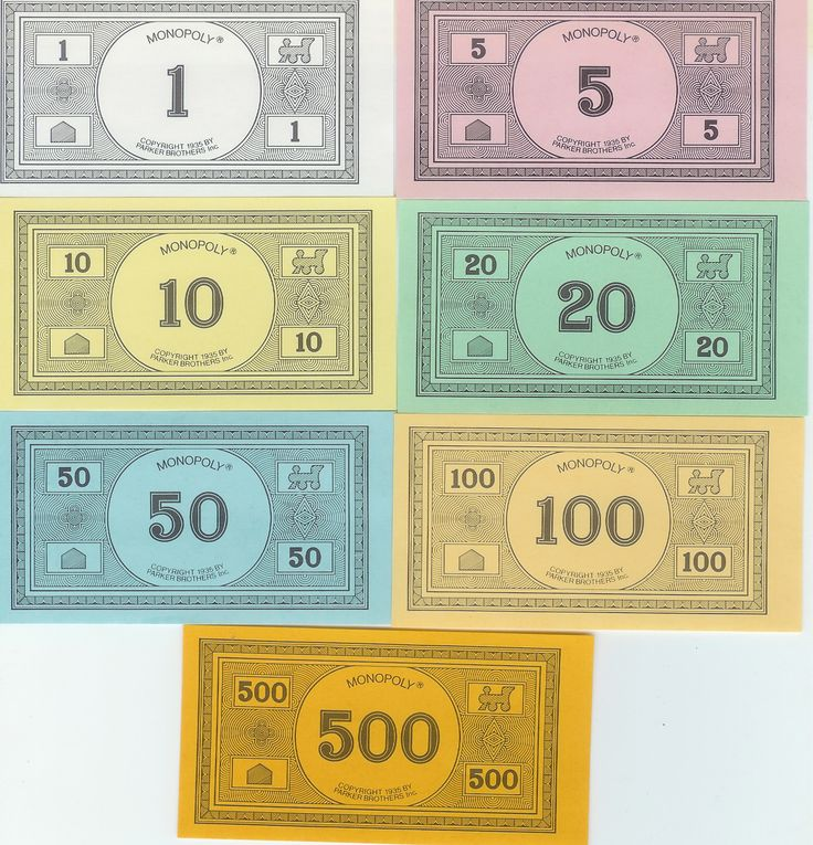 Printable replacement monopoly money  or go here for classic monopoly $$$  http://www.zieak.com/2008/08/19/print-your-own-monopoly-money/