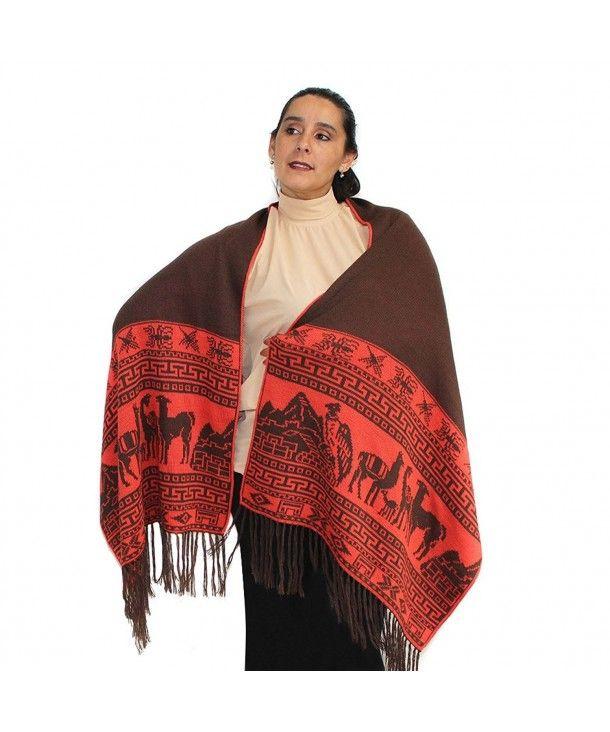 89e3247f25213 Scarves & Wraps, Wraps & Pashminas, PASHMINA Shawl Wrap Cape Ruana Cloak  Reversible MACHU
