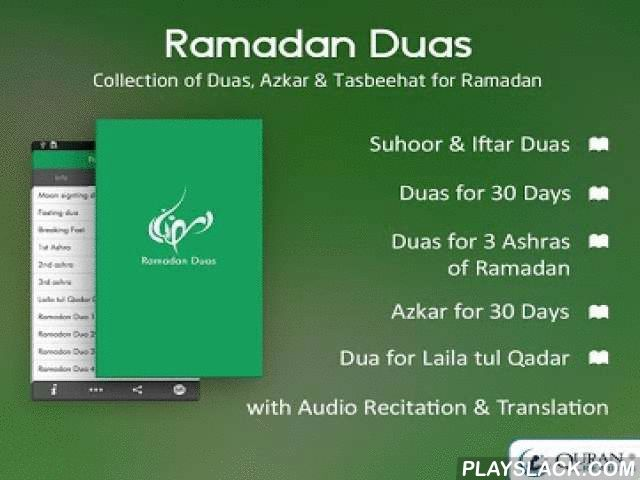Ramadan Duas & Azkar 2015  Android App - playslack.com , Ramadan Duas 2015 application contains necessary Duas and Tasbeeh for the month of Ramadan. This app is a blessing for Muslims to make this Ramadan 2015 more beneficial. The month of Ramadan is divided into three Ashra's full of blessings, therefore this app is embedded with supplication for each Ashra , duas and tasbeeh for 30 days. Make this Ramdan more productive with the help of daily Dua notification feature. Each Dua contains its…