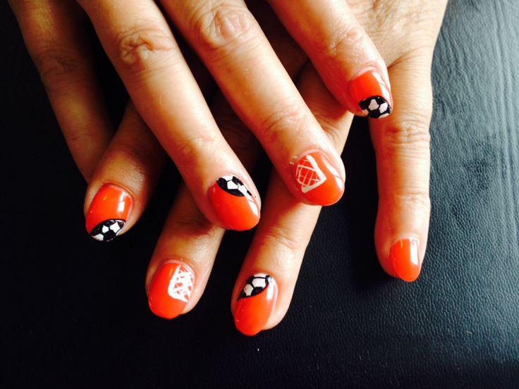 #WK #2014 #oranje #voetbal #holland #nail #art