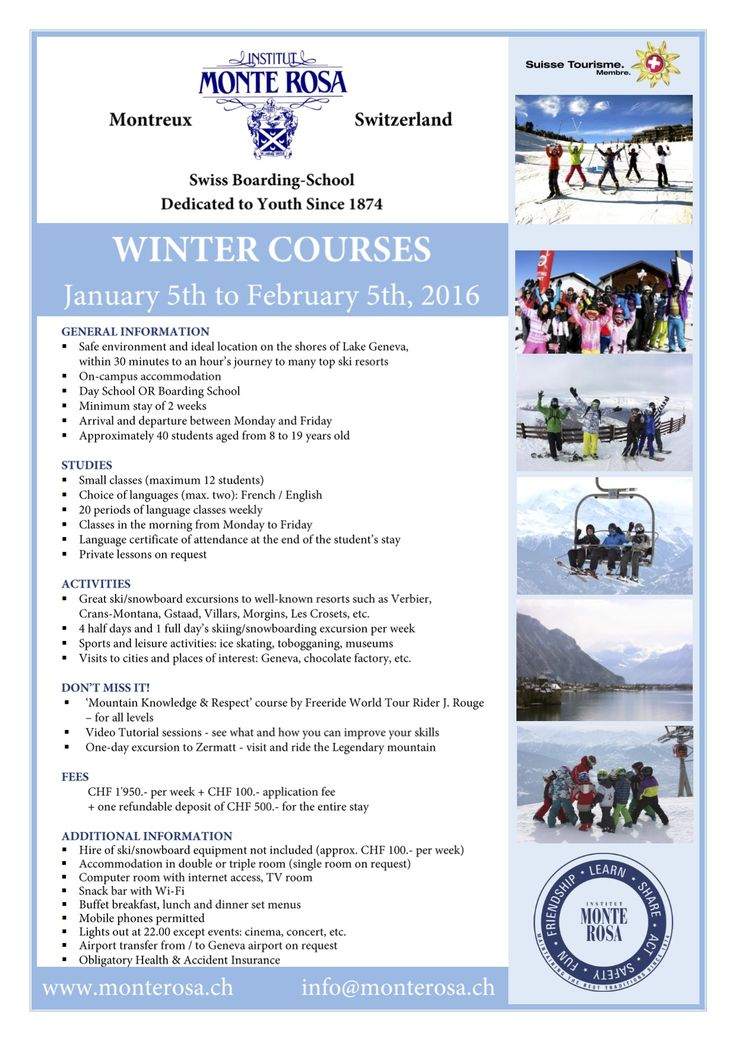 great winter holiday course at Monte Rosa! A truly international school Switzerland! http://best-boarding-schools.net/school/institute-monte-rosa@-montreux,-switzerland-207