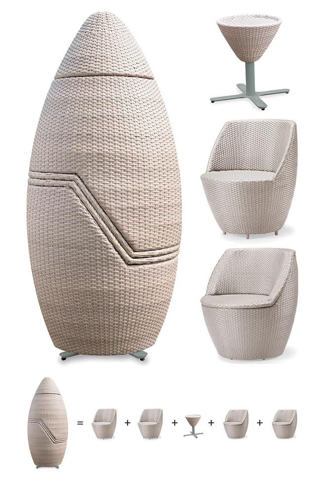 how cool is that. strange but cool. seat cushions for outdoor furniture