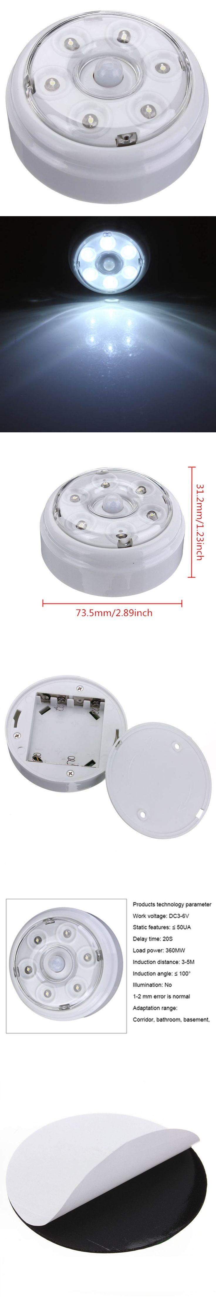 DC3-6V 6 LED Wireless Infrared PIR Auto Sensor Motion Detector Battery Powered Door Wall Light Lamp