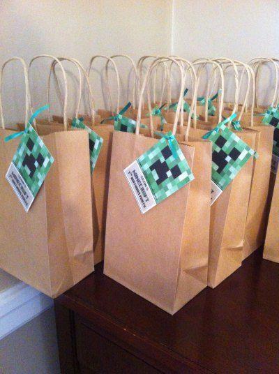minecraft bags #babyshowerideas4u #birthdayparty  #babyshowerdecorations  #bridalshower  #bridalshowerideas #babyshowergames #bridalshowergame  #bridalshowerfavors  #bridalshowercakes  #babyshowerfavors  #babyshowercakes