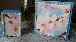 Use faux pearls to cover painting imperfections on your crafts - Manualidades Kitty Valerie