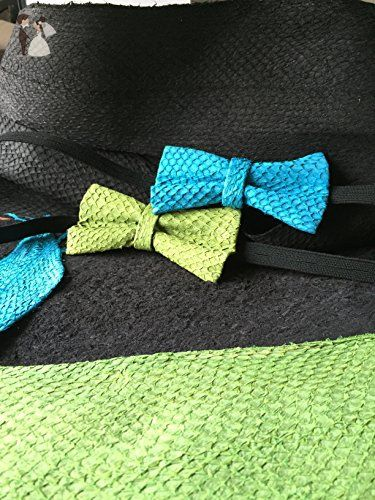 Fish Leather Bow Ties for men genuine fish skin bow tie - Groom ties (*Amazon Partner-Link)