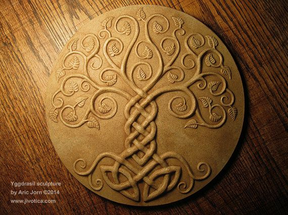 Yggdrasil The Tree Of Life Relief Sculpture Cold Cast