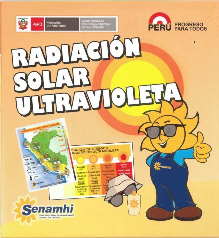 Radiación solar ultravioleta. Servicio Nacional de Meteorología e Hidrología del Perú - SENAMHI. Lima: SENAMHI¿, 2015.-- [material desplegable] Material desplegable que explica en forma didáctica que es la radiación solar, sus efectos  y como protegernos; Tipos de radiación UV; ¿Qué es la radiación UV Código: ME 551.257.1-S42