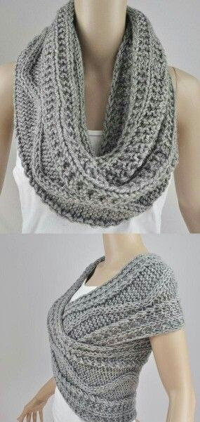 Another way to wear an infinity scarf!