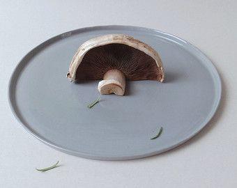 Keramiek serviesgoed portie schotel Gray minimalistische decor rond dienblad aardewerk plaat kaas plaat diner plaat porseleinen schotel huwelijksgeschenken