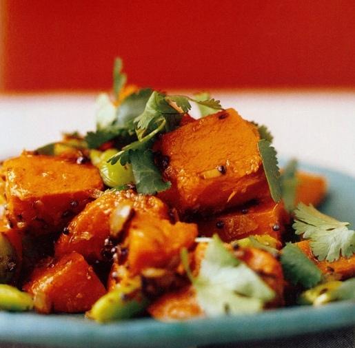 From My Kitchen: Sauteed Sweet Potato and Lima Beans - Padma Lakshmi