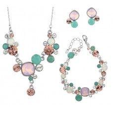 Swarovski Crystal Spring Jewelry Set. Made with Swarovski elements. Get 10% off code: Swa-074
