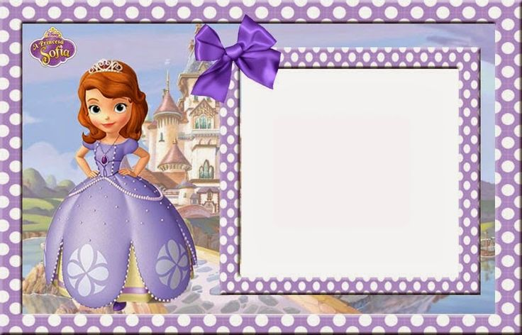 Sofia The First Free Printable Invitations Cards Or Photo Frames Ornaments In 2019 Princess Birthday