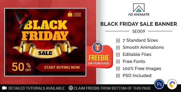 Shopping & E-commerce | Black Friday Sale Banner (SE009