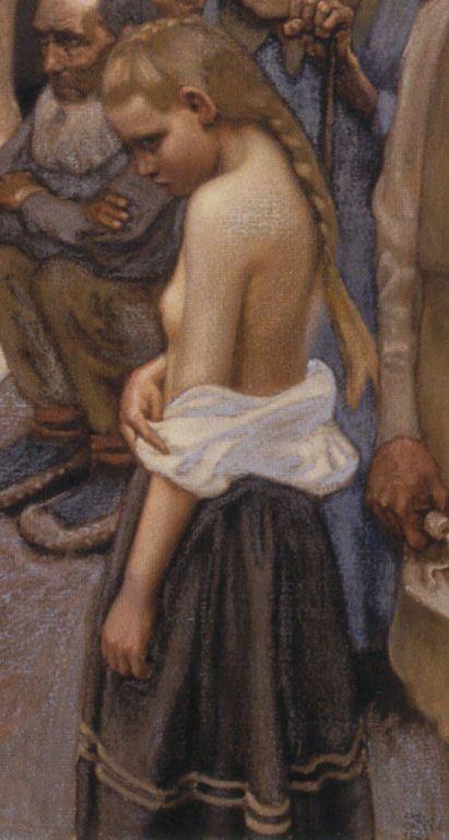 Akseli Gallen-Kallela – By the River of Tuonela (1903) (detail)