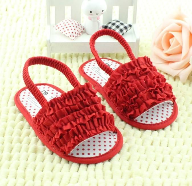 Toddler Baby Sandals 2015 Summer Baby Girl Princess Shoes Kids Girls Party Shoes Childs Girls Princess Shoes Infant Baby Sandals Red