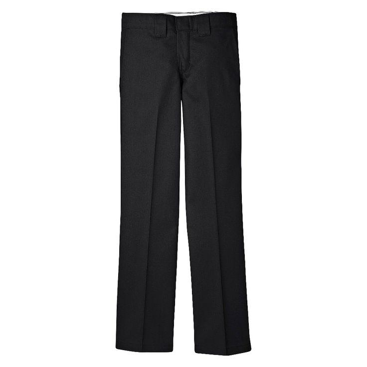 Dickies Boys' Slim Straight Pant - Black, Boy's, Size: 18