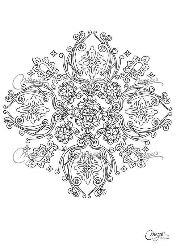 Masjas Mandala Coloring Page #5 made by Masja van den Berg - featuring 1 hand-drawn design for you to bring to life with color! Do you love to