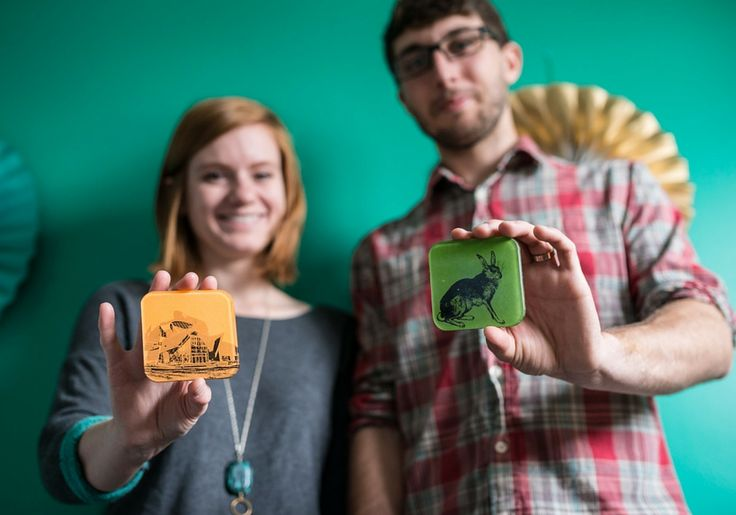 Made in Edmonton: Chester & Toby. This couple makes gorgeous handmade coasters
